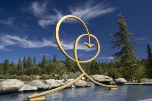 Joy Symbol and Lotus Lake - Ananda Village